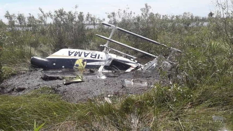 ACIDENTE: Helicóptero do Ibama cai no Pantanal e piloto morre no local